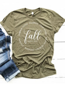 Fall, Sweet Fall Graphic Tee - 2 colors