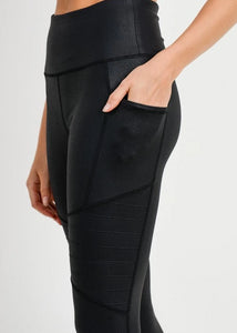Faux Leather Moto Leggings (size S-M-L)