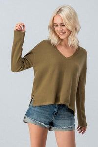 Presley Waffle-Knit Top (size S)