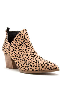 Cheetah Booties (size 6.5, 7, 7.5 & runs big)