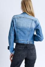 Light Wash Jean Jacket with Rose Gold Buttons