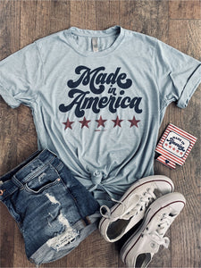 """Made in America"" Graphic Tee (size 1X, 2X, 3X)"