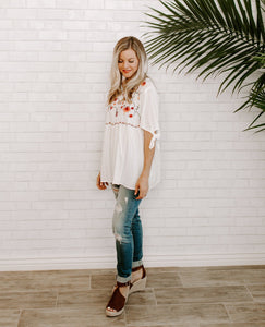 Melody Embroidered Blouse - 2 colors