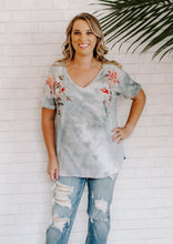 Embroidered Tie Dye Tee