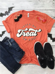 """Trick or Treat Yo-Self"" Graphic Tee"