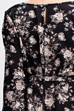 Lily Romper - Black floral romper long sleeve