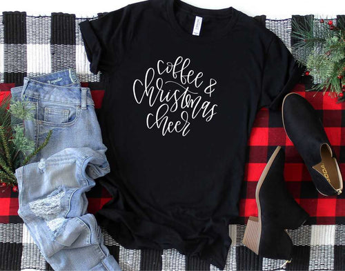 Coffee & Christmas Cheer Graphic Tee (size 3XL)