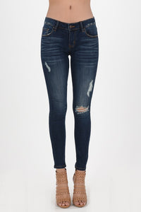 Dark Wash Distressed Jeans (size 1, 11, 1XL available)