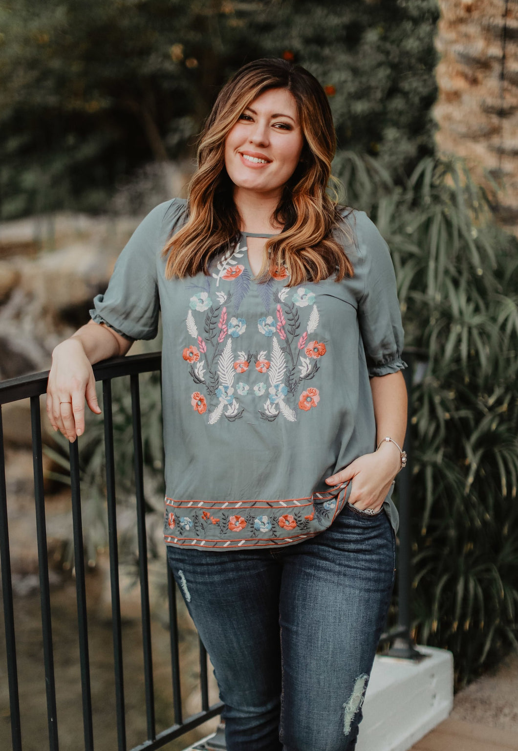 Plus Size Embroidered Leila Blouse
