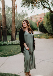 Kaylee Maxi Dress - 5 colors (size L - 2XL)