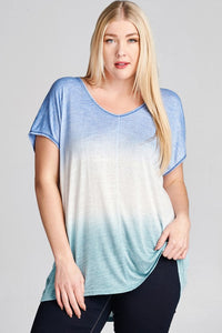Plus Size Ombre Tee (size 3XL)