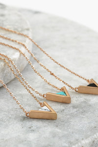 Triangle Necklace - 3 colors