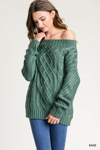 Sage Sweater: Off-Shoulder or On-Shoulder!