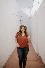 Plus Size Wrap Tee - 2 Colors
