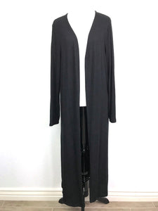 Plus Size Black Duster Cardigan