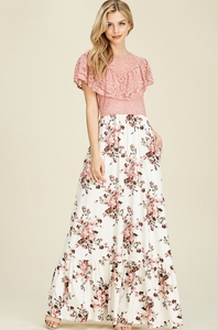 Charlotte Lace-Top Maxi Dress (size M - XL)