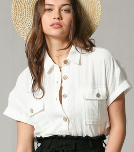 Sahara Linen Button-Down Shirt