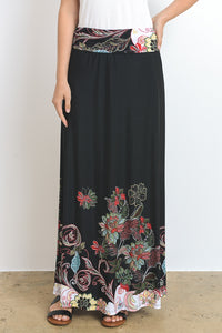 Black Dipped Maxi Skirt (size S in stock)