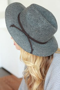 Wool Felt Panama Hat - Grey or Brown