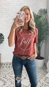 Fall, Sweet Fall Graphic Tee (size XL)