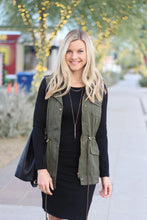 Olive Faux-Fur Lined Vest