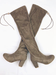 Taupe Over-The-Knee Boots (size 8.5 - 10)