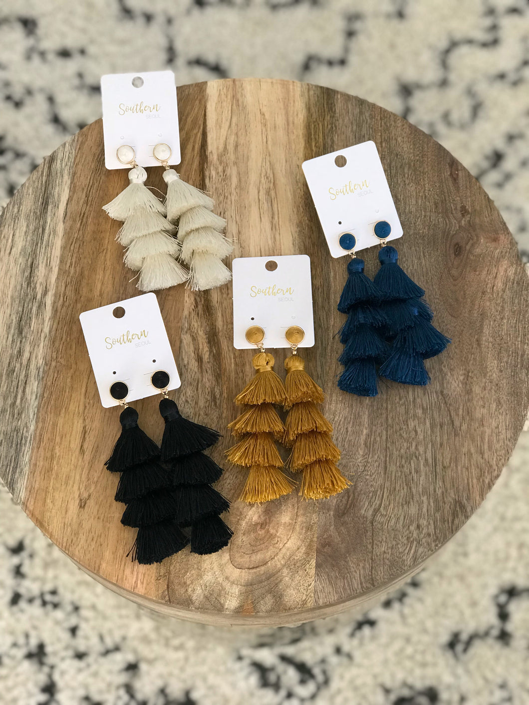 4-Tier Tassel Earrings