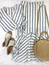 Stripe Maxi Skirt + Wrap Top Set