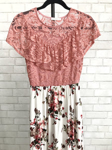 Charlotte Lace-Top Maxi Dress (size XL)