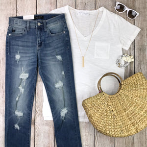 Perfect Distressed Skinny Jeans (size 0)