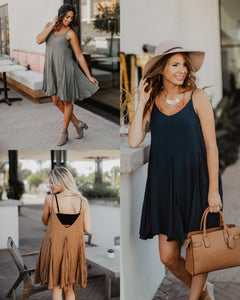 Flowy Skater Dress - 3 colors