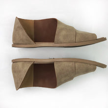Open-Toe Side Cut-Out Flats (size 6)