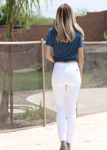 Distressed White Skinny Jeans (size 1 & 3)