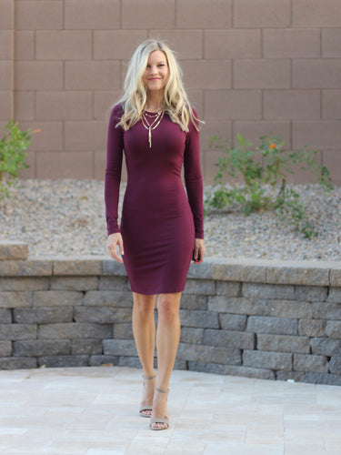 Night Out Dress - Black or Plum