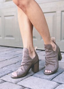 Kristin Booties - Taupe or Black (size 10, 11 in stock)