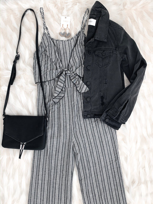 Ellie Striped Wide-Leg Jumpsuit