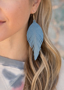 Leather Feather Earrings - 5 colors