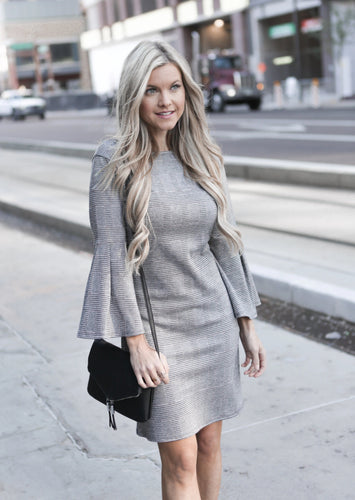 Soft-Knit Plaid Dress