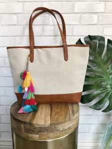 Boho in the City Bag (removable tassel charm)