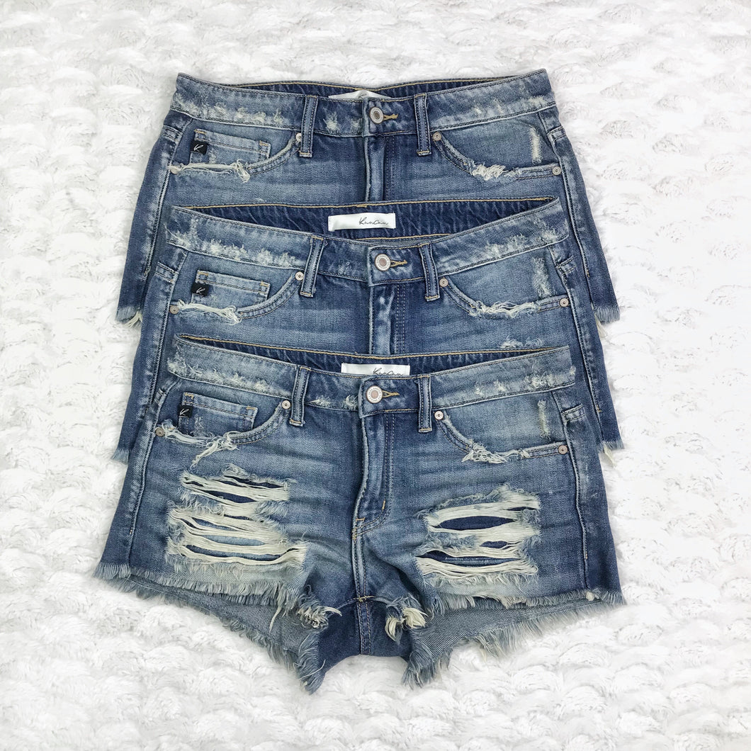Malibu Distressed Cutoff Jean Shorts