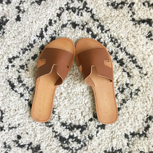 Grecian Sandals - Tan or White