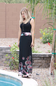 Black Dipped Maxi Skirt (size S)