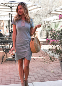 Mila Ruched T-Shirt Dress - 2 Colors (size S & M)