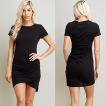 Mila Ruched T-Shirt Dress - 4 Colors