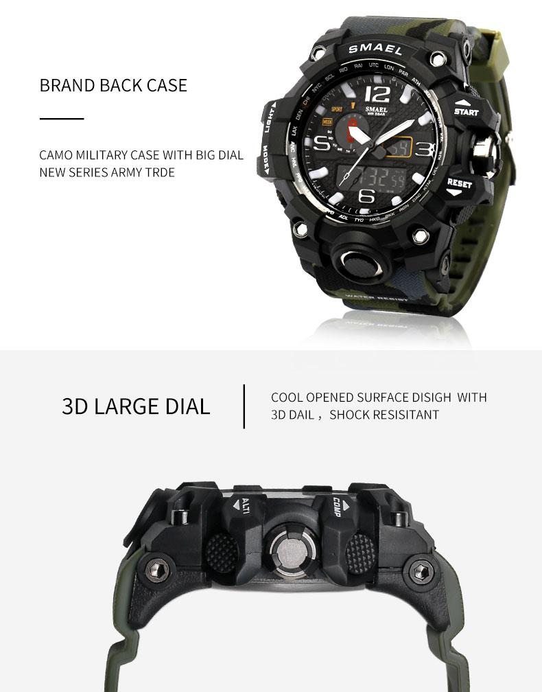 mens watches wrist leather waterproof watch analog konxido military face band kx sports products big
