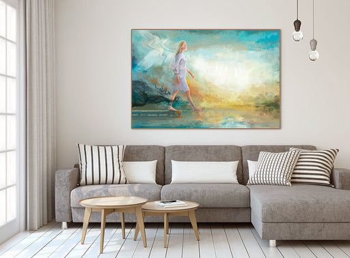 "Art print ""The Step of Faith"" 2 Corinthians 5:7 - Ain Vares Art"