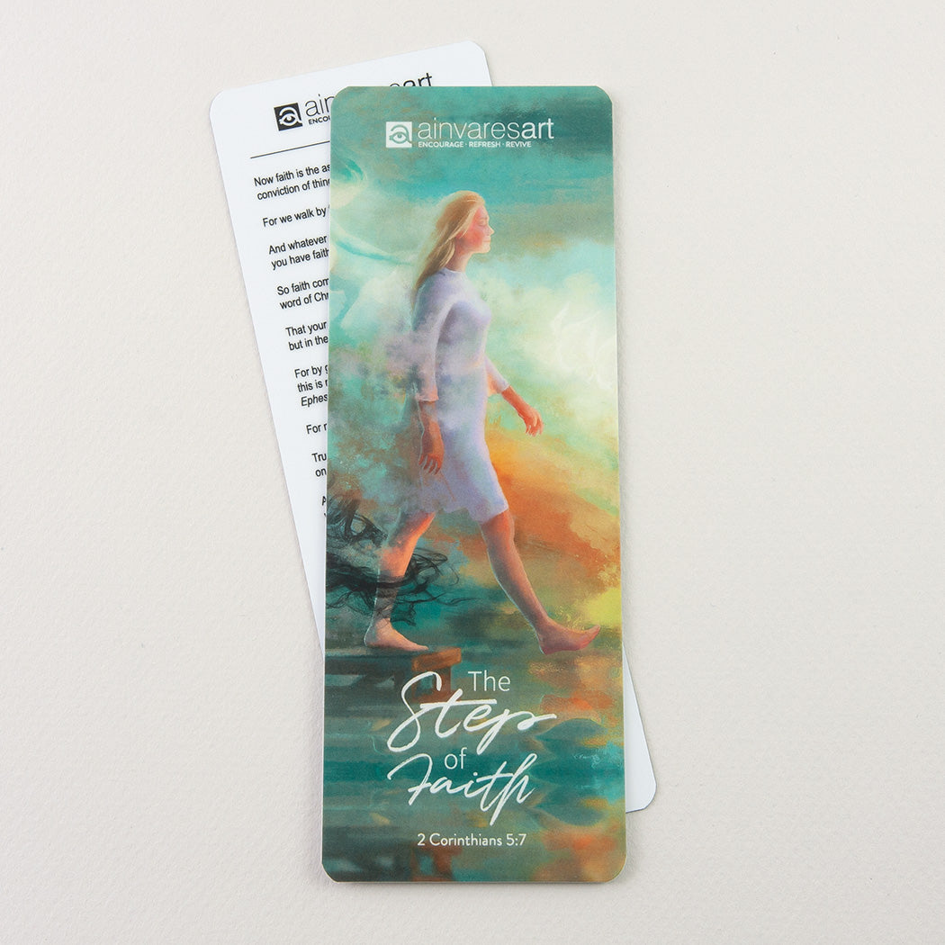 "Bookmark ""The Step of Faith"" 2 Corinthians 5:7"