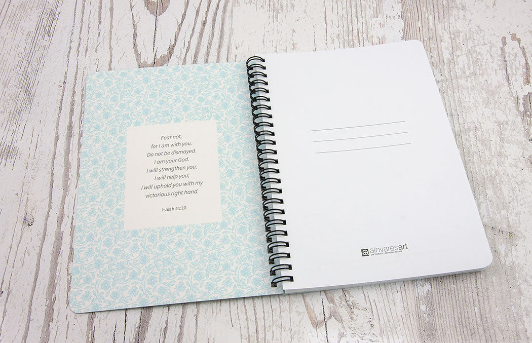 "DOTTED NOTEBOOK ""The Step of Faith"" A5 size, Wirebound, Journal, Diary, Planner 112 Pages +adult coloring pages"