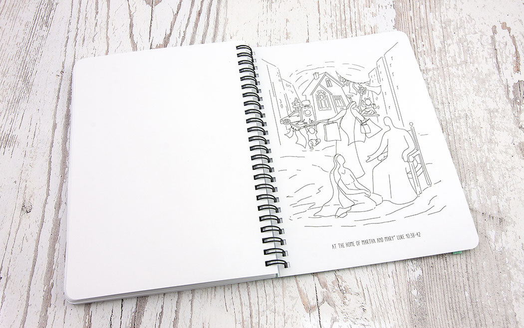 "SQUARED NOTEBOOK ""The Step of Faith"" A5 size, Wirebound, Journal, Diary, Planner 112 Pages +adult coloring pages"