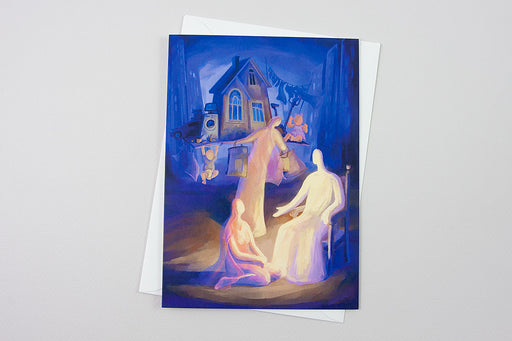 Greeting Card - At the Home of Martha and Mary, Luke 10:38-42 - Ain Vares Art